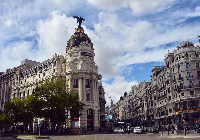 Крупные и красивые города Испании - Мадрид - центральная улица Гран Виа