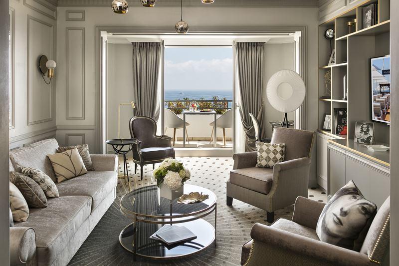 Дизайн интерьера: сьют имени Мишель Морган в Hôtel Barrière Le Majestic Cannes - фото 2