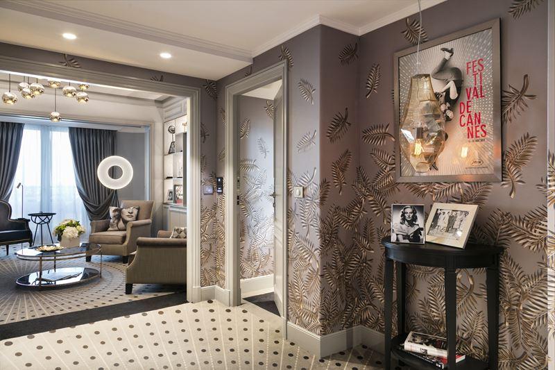 Дизайн интерьера: сьют имени Мишель Морган в Hôtel Barrière L4e Majestic Cannes - фото