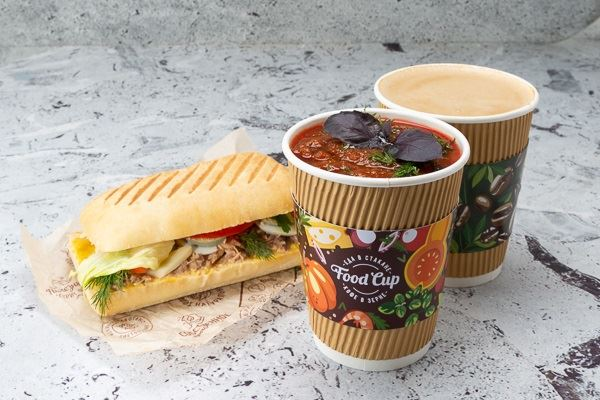 Кафе Food Cup (Санкт-Петербург) - суп, кофе и сэндвич
