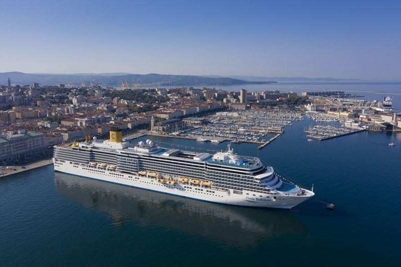 Costa Cruises возвращается: лайнер Costa Deliziosa отправился в круиз по Италии из Триеста
