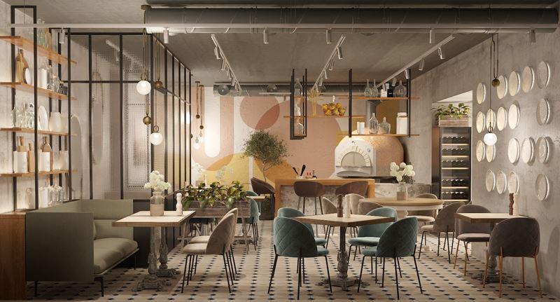 Ресторан сети итальянских тратторий IL Letterato на Китай-городе в Москве