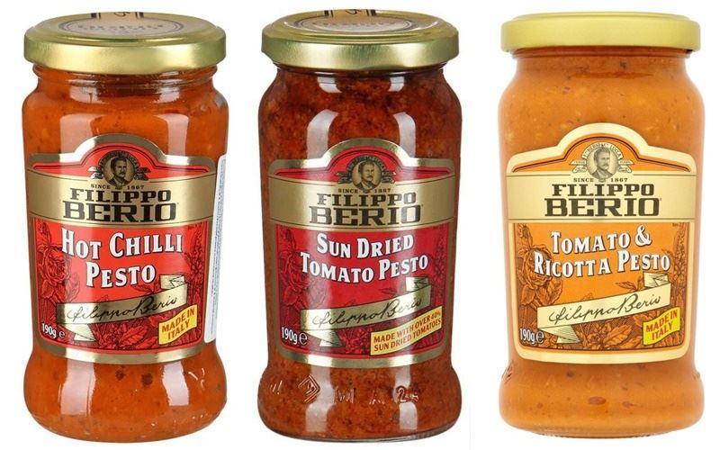 Что такое «песто» - красный и оранжевый соус от Filippo Berio