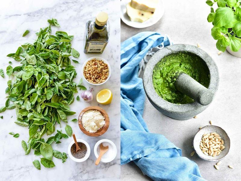 Что такое «песто» и почему зелёный соус так называется