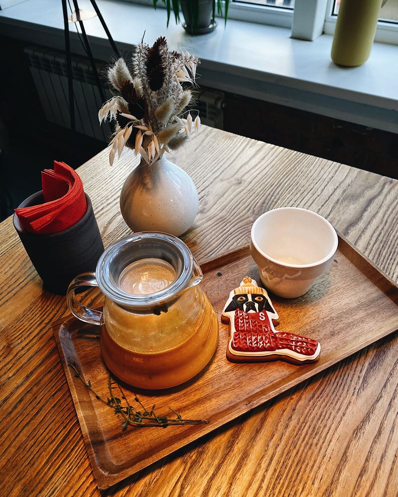 Зимние безалкогольные напитки в Sibaristica Coffee Roasters - Чай облепиха-тимьян