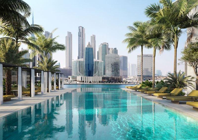 The Residences, Dorchester Collection, Dubai – отель и элитный жилой комплекс в Дубае - бассейн