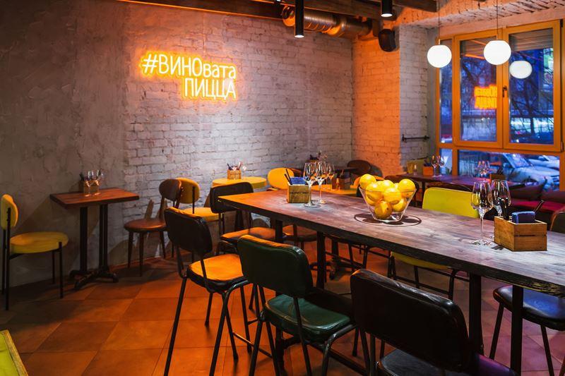 Пиццерия Crosta в Москве - дизайн интерьера