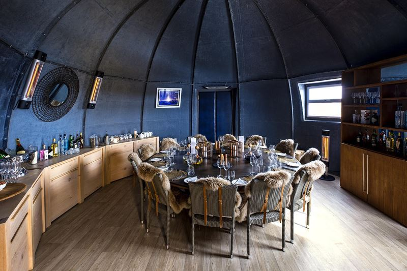 На Южный Полюс из Кейптауна: путешествие в Антарктиду - лагерь обеденная зона