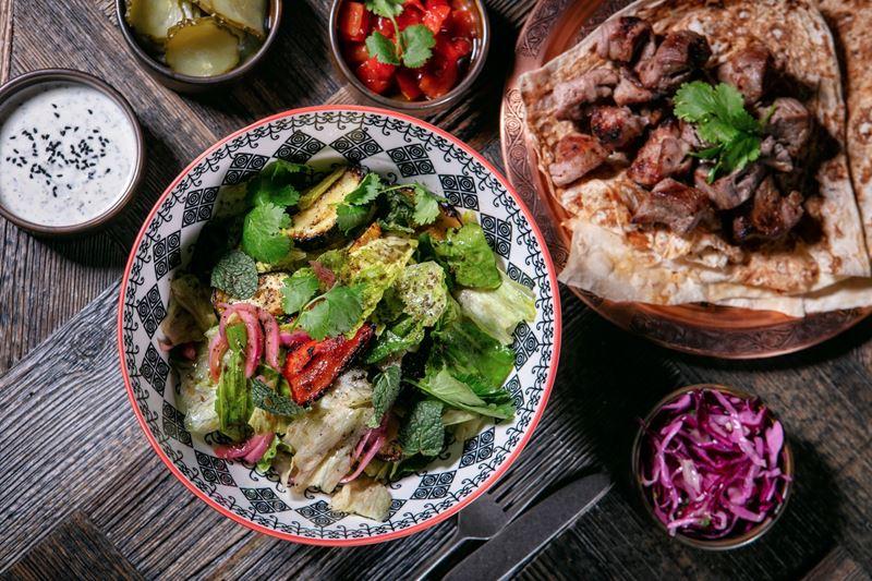 Ресторан Bazar Mangal на Сретенке - Салат из печёных овощей