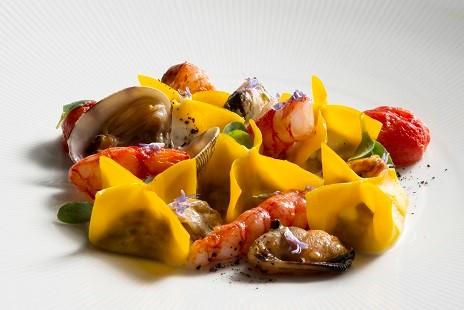 Паста с рагу из морепродуктов из спа-меню  отеля Lefay Resort & SPA Lago di Garda