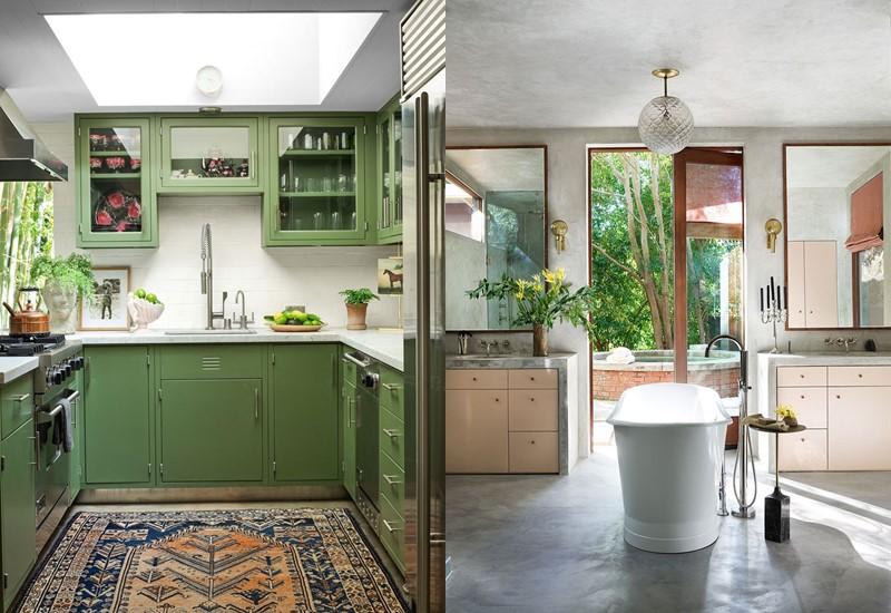 Интерьер дома Дакоты Джонсон в Лос-Анджелесе - кухня и ванная