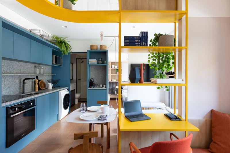 Из типовой двушки в стильную студию: интерьер квартиры в 37 м² в Сан-Паулу (Бразилия)