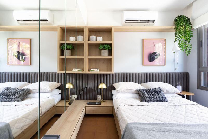 Интерьер квартиры-студии в 37 м² в Сан-Паулу - спальня
