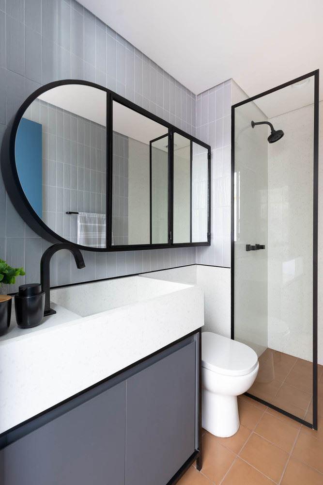 Интерьер квартиры-студии в 37 м² в Сан-Паулу - ванная комната