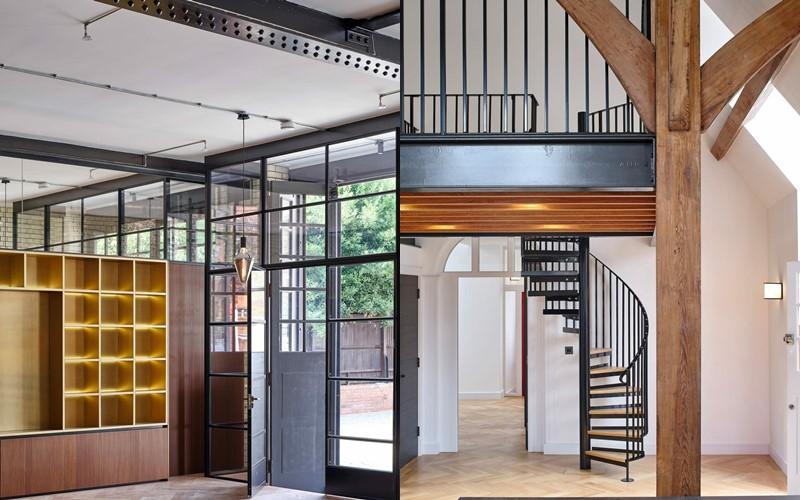 Бывшая лондонская пожарная станция Belsize - Современный интерьер нового жилого комплекса
