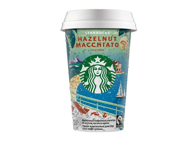 Starbucks® выпускает холодный кофейный напиток Hazelnut Macchiato в новом летнем дизайне