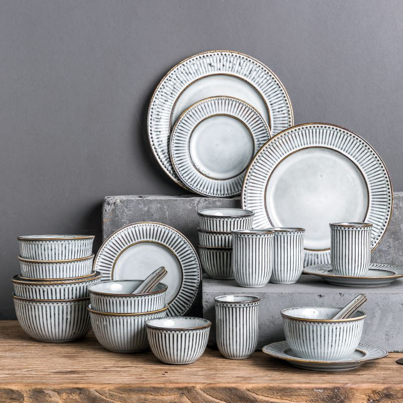 Красивая и стильная посуда с Aliexpress - Набор белой посуды в скандинавском стиле (HPZS)