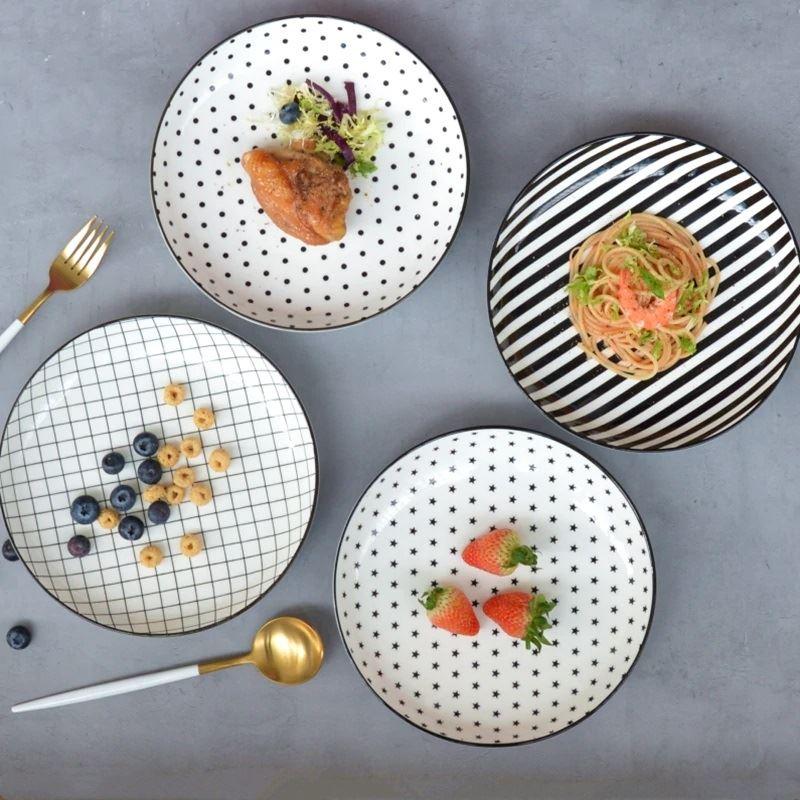Красивая и стильная посуда с Aliexpress - Тарелки в горошек, полоску и клетку (WeCollection Jim's House)