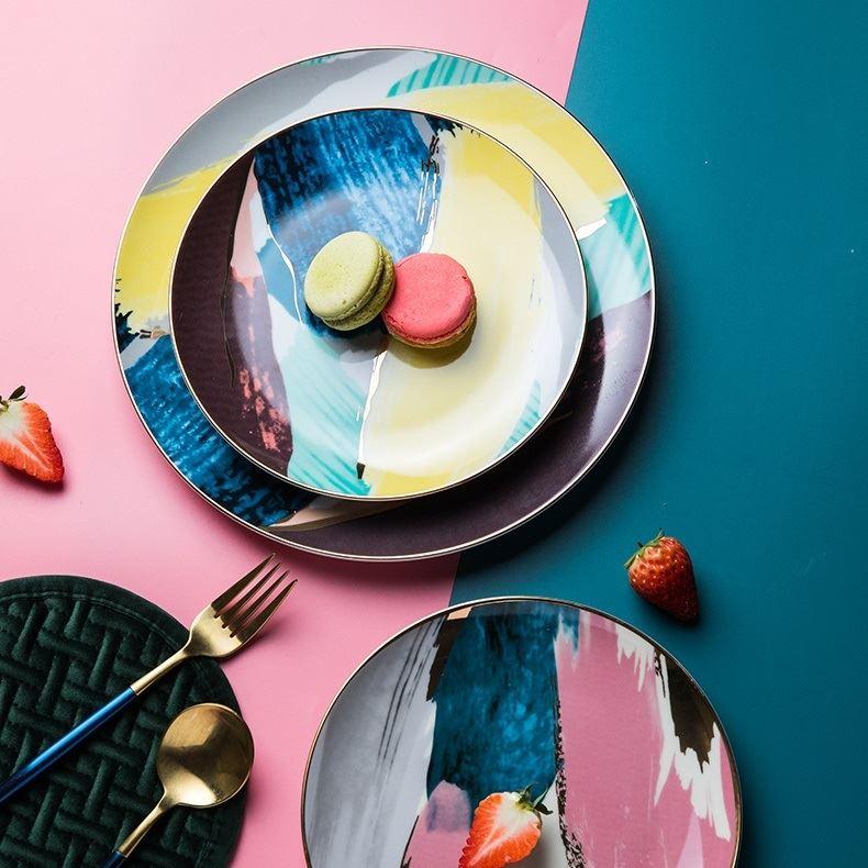 Красивая и стильная посуда с Aliexpress - Яркие тарелки под десерты (HPZS)