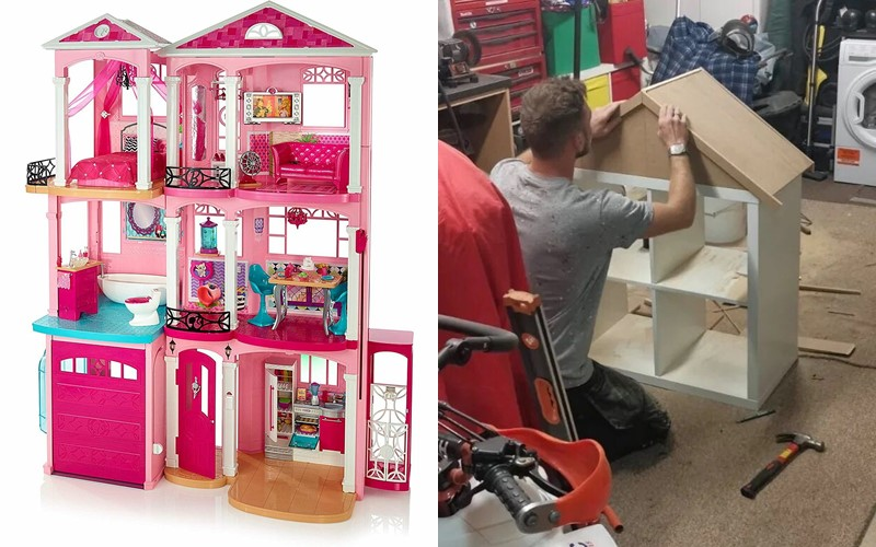 Из стеллажа IKEA в домик для Барби -