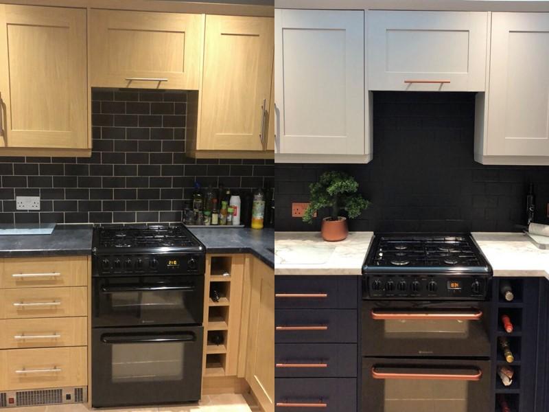 Британка перекрасила деревянную кухню - до и после ремонта