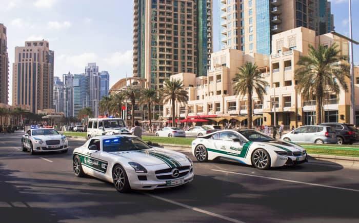 Интересные факты о Дубае - спорткары для полиции