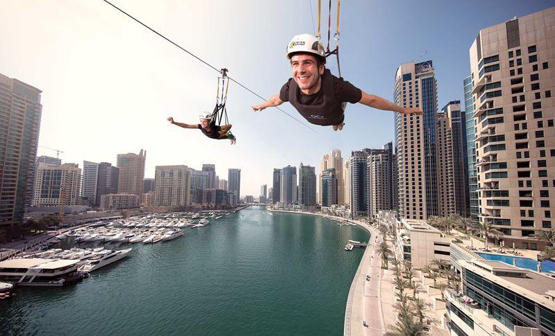 Интересные факты о Дубае - самый длинный зиплайн