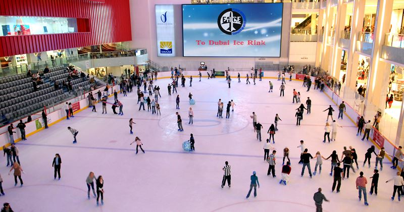 Летние каникулы в Дубае 2021 - Каток в Dubai Mall