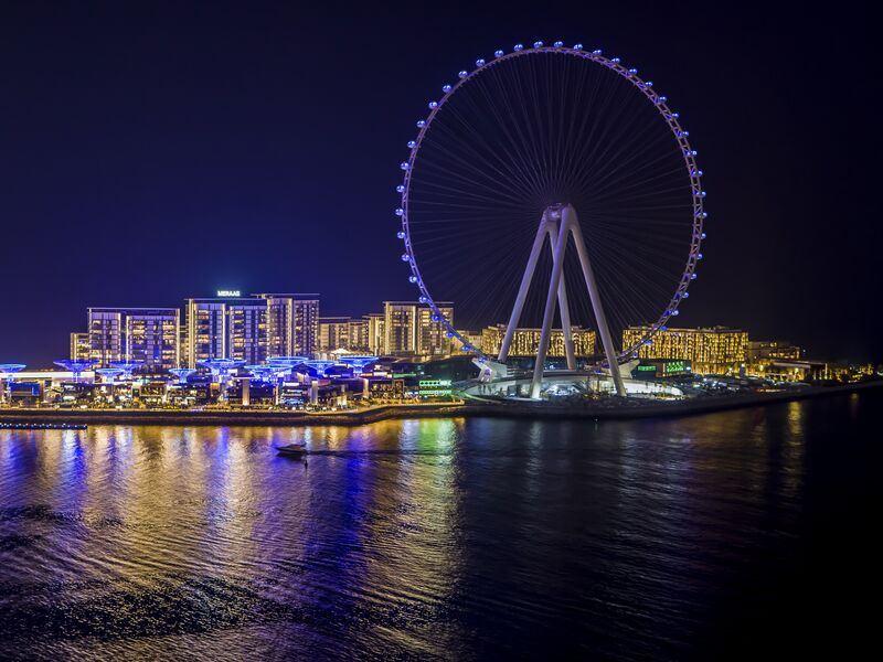 Летние каникулы в Дубае 2021 - Колесо обозрения Ain Dubai
