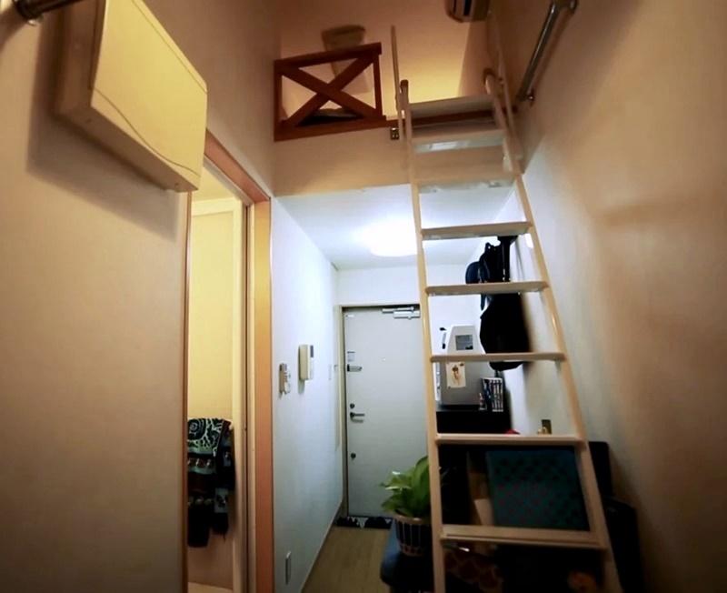 Австралийка квартира в Токио 8 м² - Вид на квартиру из глубины