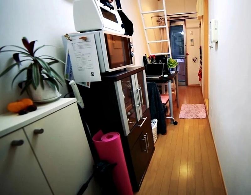 Австралийка квартира в Токио 8 м² - Вид со стороны входной двери