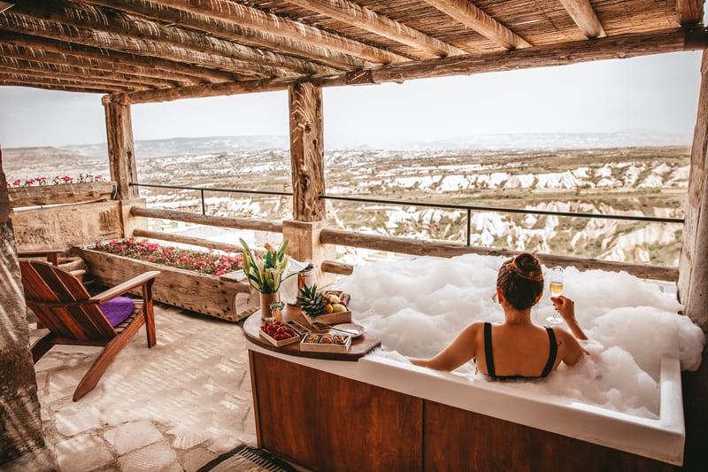Отель Argos in Cappadocia (Турция) - номер Tiraz Jacuzzi Suite