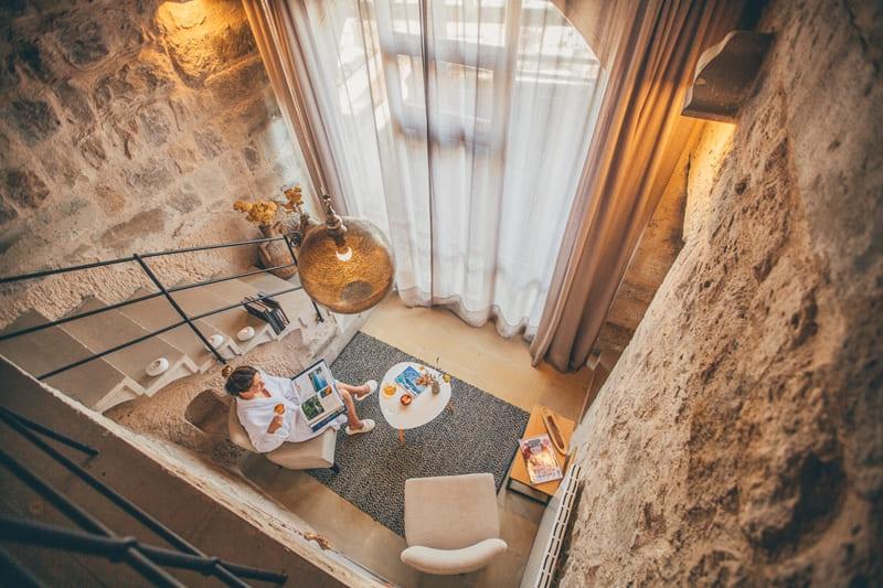 Отель Argos in Cappadocia (Турция) - номер Tiraz Jacuzzi Suite  -релакс
