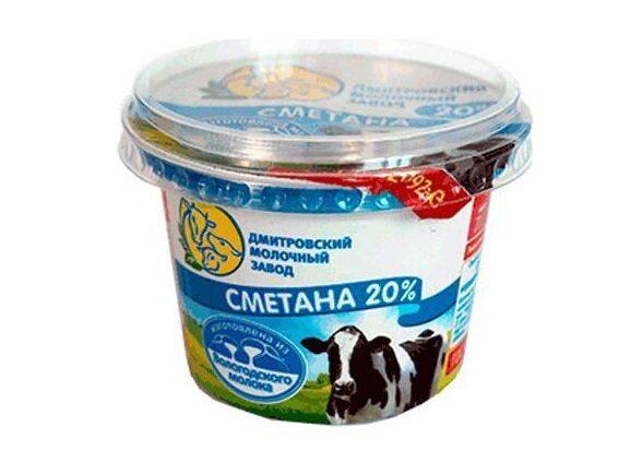 Чёрный список сметаны - Росконтроль - «Дмитровский молочный завод» 20%