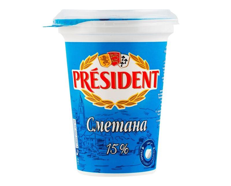 Чёрный список сметаны - Росконтроль - President 15%