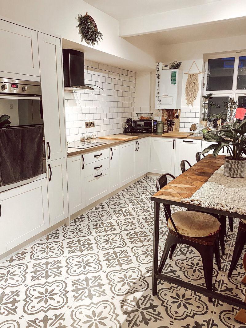 Кухня из Pinterest перекрашивание плитки - после ремонта