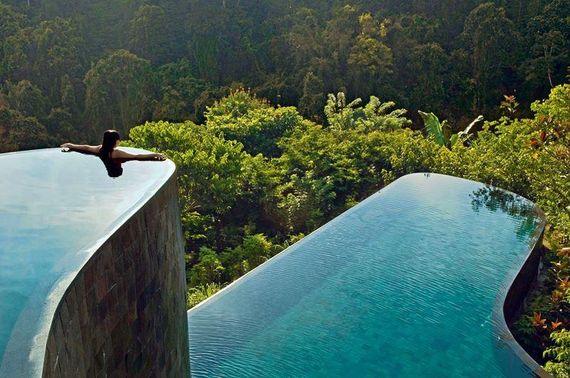 Бассейны-инфинити с панорамными видами - Ubud Hanging Gardens (о. Бали, Индонезия)