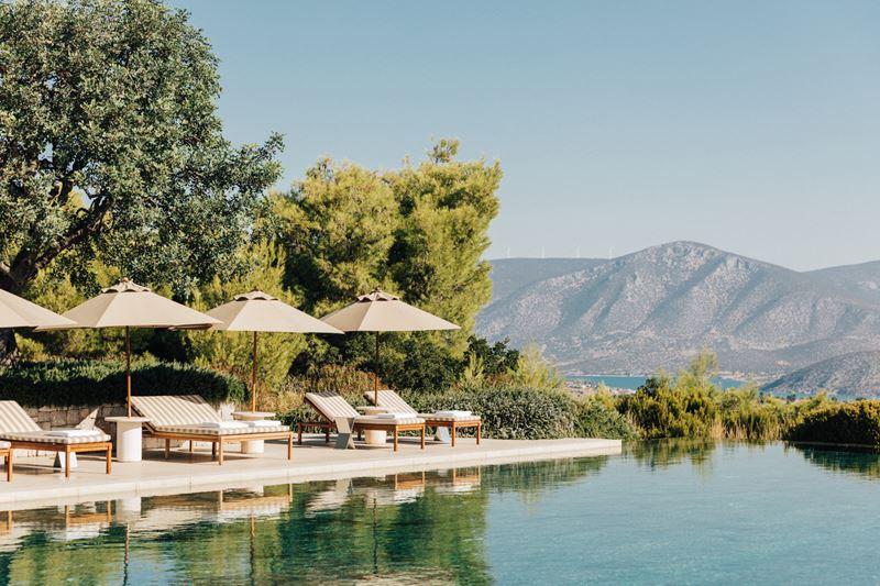 Пляжные клубы в отелях - Amanzoe, The Beach Club (Греция)