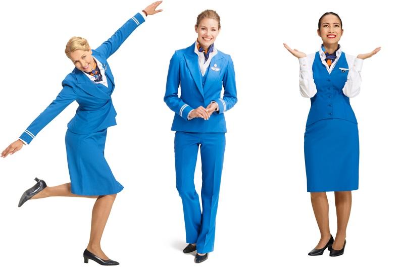 Форма стюардесс авиакомпаний Европы - KLM (Нидерланды)