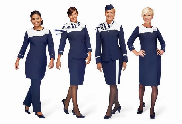 Форма стюардесс авиакомпаний Европы - Finnair (Финляндия)