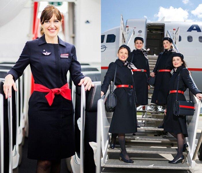 Форма стюардесс авиакомпаний Европы - Air France (Франция) и Aegean Airlines (Греция)