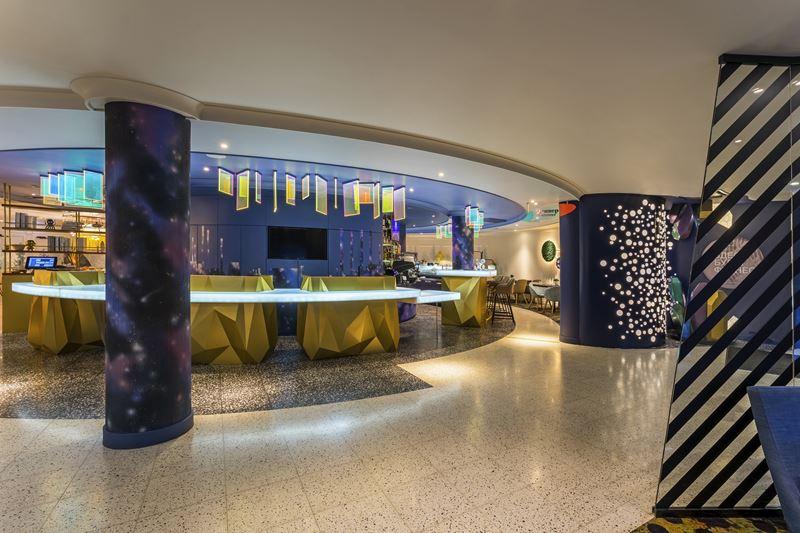ibis Styles Челябинск - космический дизайн интерьера отеля - фото 6