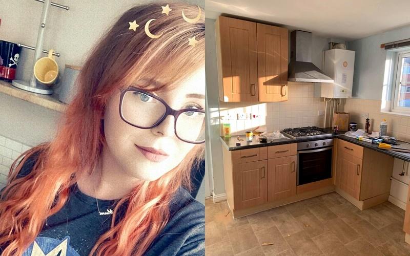 Девушку раздражала полученная в наследство кухня и она переделала её по урокам из Youtube и Pinterest