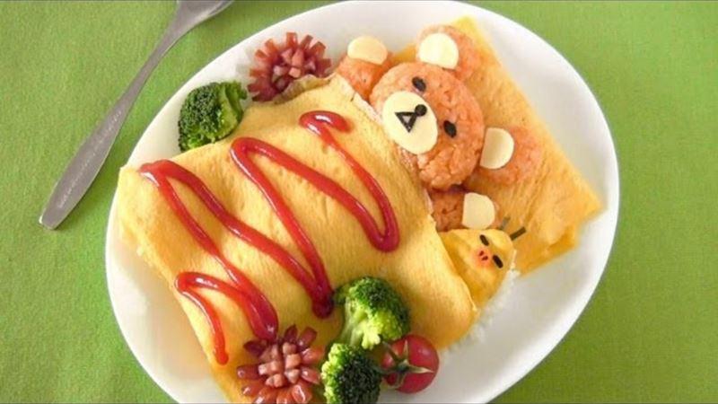 Японский омлет омурайсу - любимое блюдо детей