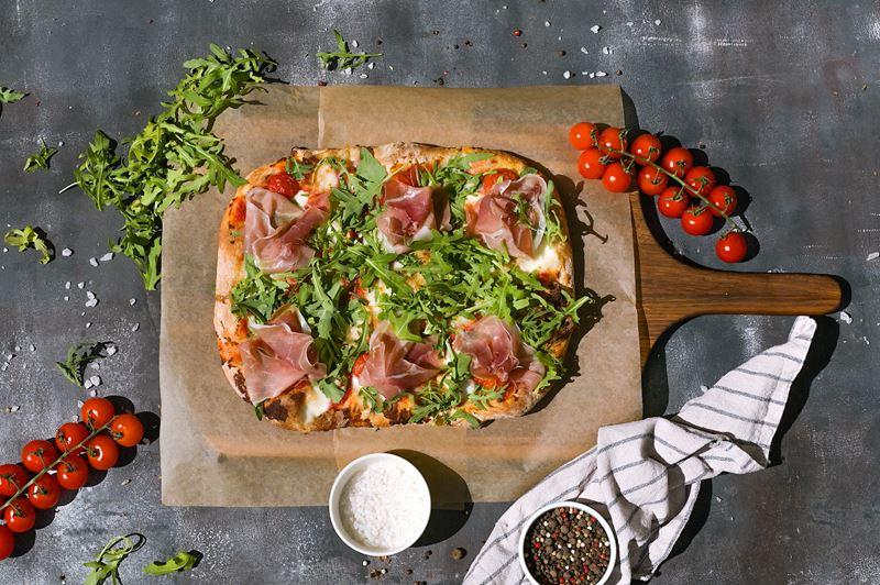 Римская пицца - начинки - Пармский окорок