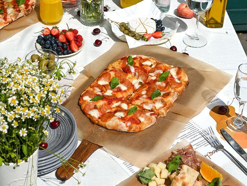Римская пицца - начинки - Пепперони