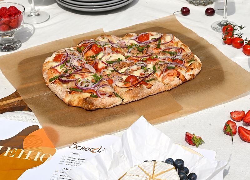 Римская пицца - начинки - Тонно кон чиполле (тунец с луком)