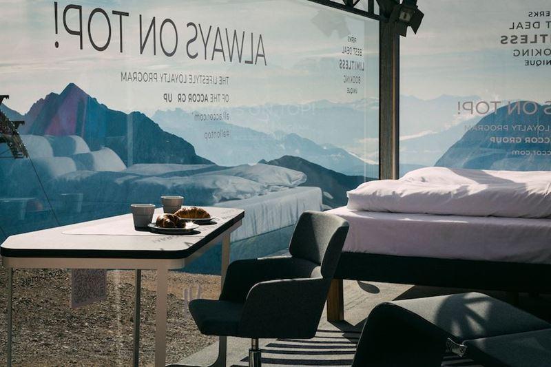 Самый высокий отельный номер Германии Accor Novotel - мебель