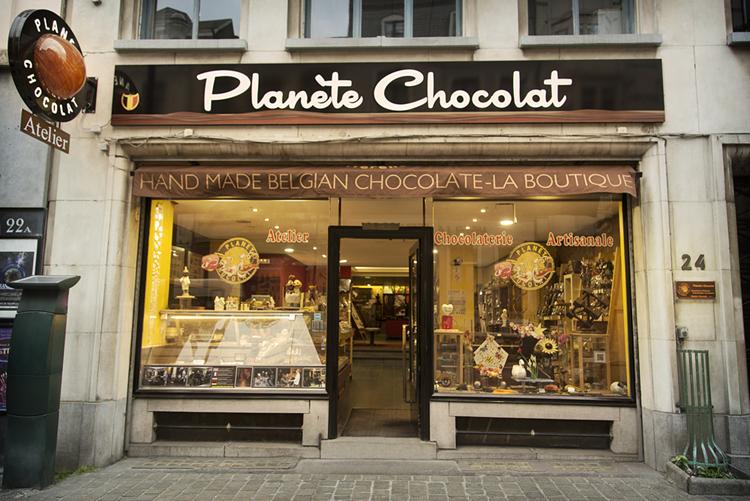 магазин шоколада в Брюсселе