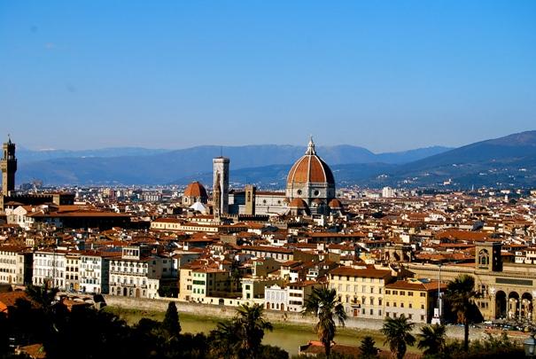 флоренция сверху собор Санта-Мария-дель-Фьоре города италии